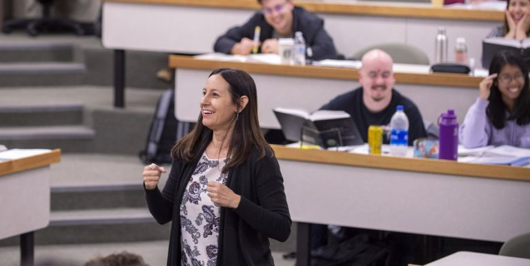 Law Professor Rachael Salcido teaches class at the McGeorge School of Law