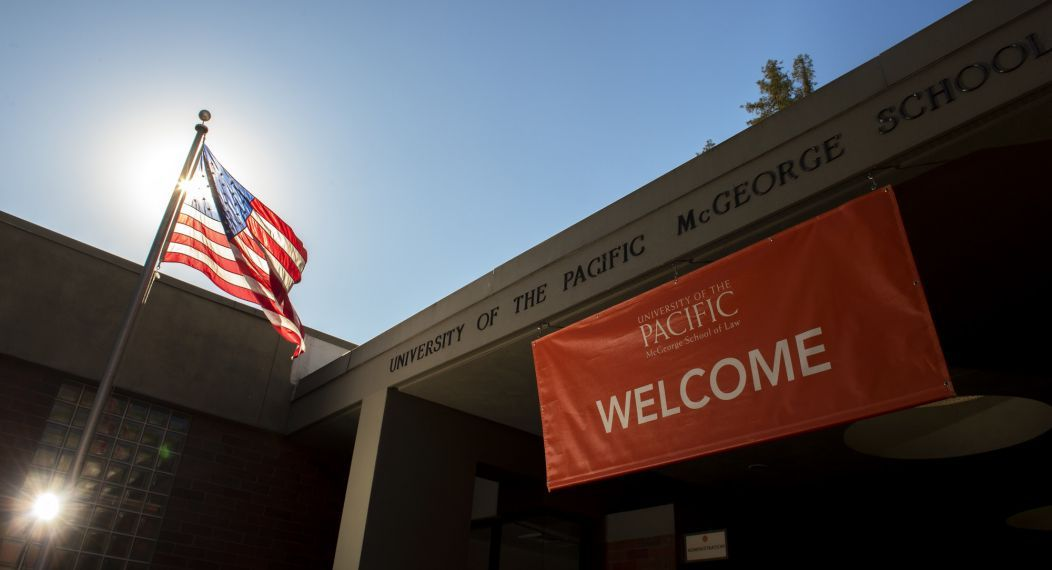 McGeorge School of Law exterior building sign